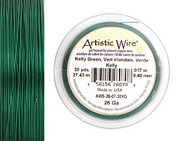 Artistic Wire Kelly Green 26 gauge, 30 yards