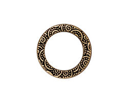 TierraCast Antique Gold (plated) Large Spiral Ring 19mm