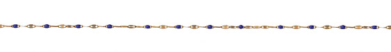 Zola Elements Cobalt Pressed Drawn Cable Brass Chain