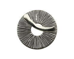 Saki White Bronze Radiant Toggle Clasp 31mm, 27mm bar