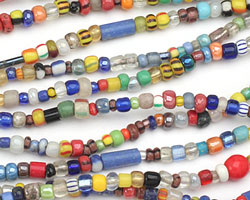 African Glass Rainbow (w/ clear) Seed Bead Mix 4-5mm