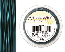 Artistic Wire Aqua 18 gauge, 10 yards
