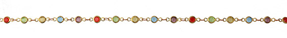 Zola Elements Jewel Tone Crystals Round Link Brass Chain