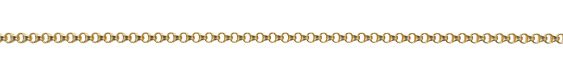 Satin Hamilton Gold (plated) Figure 8 Box Chain