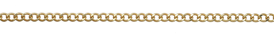 Satin Hamilton Gold (plated) Dapped Curb Chain