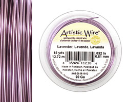 Artistic Wire Lavender 20 gauge, 15 yards