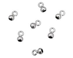 WireLace Silver (plated) Bell End Cap 4mm