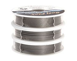 Soft Flex Trios Satin Silver Assorted Sizes Wire 3x10ft.