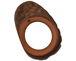 Tagua Nut Honey Open Slice 33-45x24-36mm