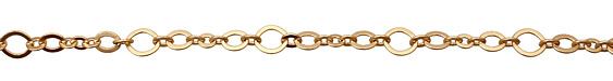 Satin Hamilton Gold (plated) Horse Eye & Flat Oval Chain