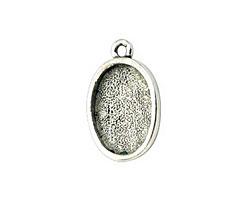 Nunn Design Antique Silver (plated) Mini Oval Frame Charm 19x12mm