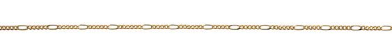 Satin Hamilton Gold (plated) Curb & Oval Chain