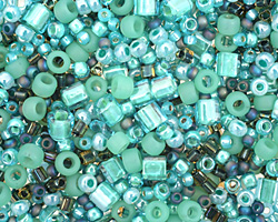 toho take seafoam green seed bead mix lima beads