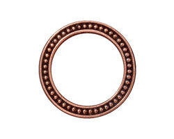 """TierraCast Antique Copper (plated) 1"""" Beaded Ring 25mm"""