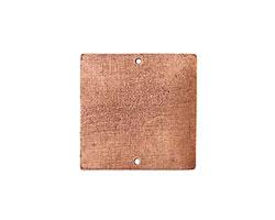 Nunn Design Antique Copper (plated) Flat Grande Square Tag Link 31mm
