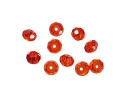 Poppy Faceted Rondelle 4x6mm