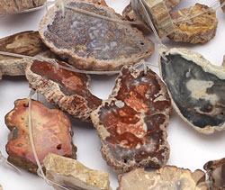 Agate Slices (2-hole) 16x12-40x34mm