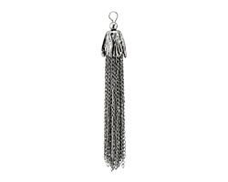 Zola Elements Antique Silver (plated) Chain Tassel w/ Flower Cap 14x100mm