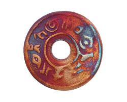 Xaz Raku Stan's Rust Message Coin 37-38mm
