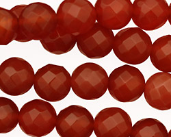 Carnelian Faceted Round 10mm
