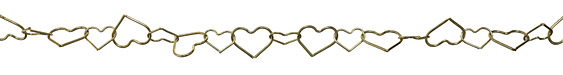 Gold (plated) Heart link Chain