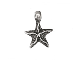Greek Pewter Starfish Charm 18mm