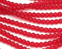 Cherry Recycled Glass Round 6mm