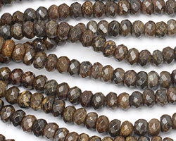 Bronzite Faceted Rondelle 8mm