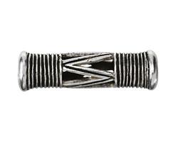 Greek Pewter Drum Bead (large hole) 53x17mm