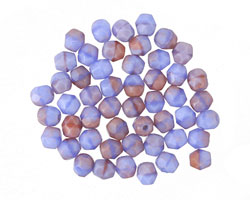 Czech Fire Polished Glass Opaque Pink/Blue Round 4mm