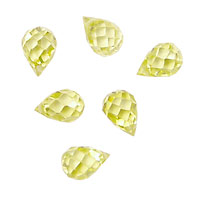 Lemon Ice Faceted Teardrop 6x9mm