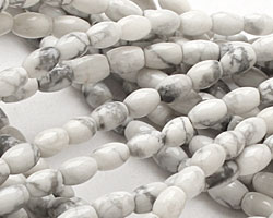 White Howlite Rice 6x4mm