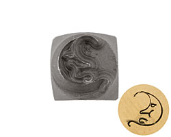 Moonface Metal Stamp 6mm