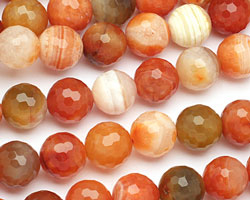 Red Botswana Agate Faceted Round 14mm