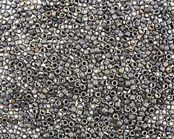 TOHO Matte Gunmetal Round 15/0 Seed Bead