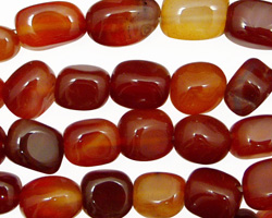 Carnelian (natural) Tumbled Nugget 8-11x7-10mm