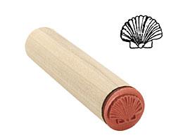 Scallop Shell Mini Rubber Stamp 16x13mm