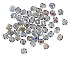 Czech Fire Polished Glass Montana Blue AB Round 4mm