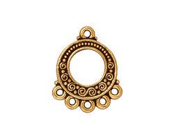 TierraCast Antique Gold (plated) Spiral & Beads Chandelier 18x22mm