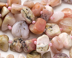 Pink Opal Tumbled Nugget 8-15x10-21mm