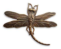 Vintaj Natural Brass Art Deco Dragonfly Pendant 47x35mm