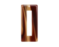Zola Elements Brown Sugar Acetate Rectangle Donut 22x49mm