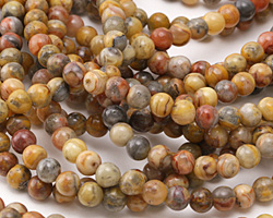 Crazy Lace Agate Round 6mm
