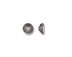 TierraCast Antique Silver (plated) Lotus Flower Bead Cap 7x3mm