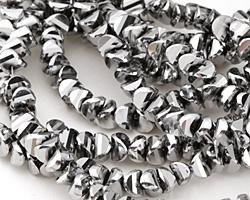 Metallic Titanium Crystal Tortoise Cut 6mm