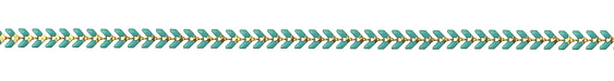 Zola Elements Turquoise Chevron Brass Chain