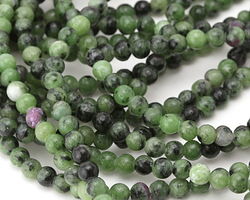 Ruby Zoisite Round 4-4.5mm