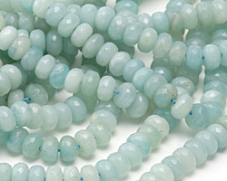 Amazonite Faceted Rondelle 8mm