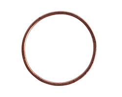 Nunn Design Antique Copper (plated) Grande Flat Circle 50mm