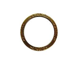 Vintaj Natural Brass Eternity Garden Ring 25mm